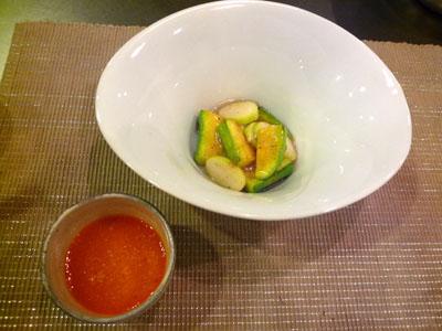 塩豚鶏スープとザリガニのスープ