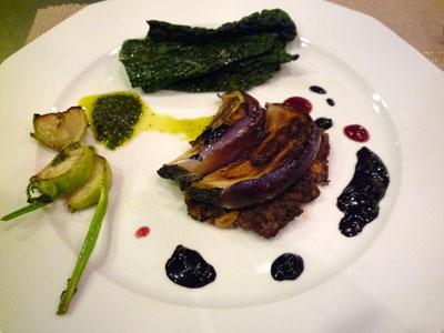 イタリア野菜ジェノベーゼとラズベリーとバルサミコ