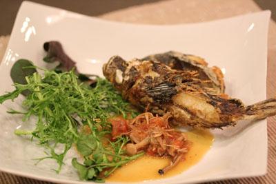 めばるかさご トマト魚ソース黒酢