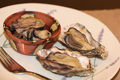 チーズオーブンに牡蛎