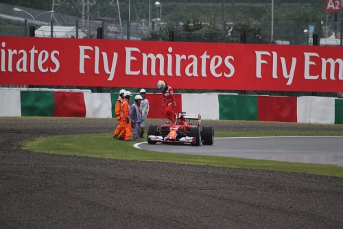 2014F1日本GP決勝 アロンソリタイヤ