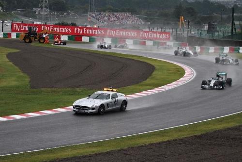 2014F1日本GP決勝 アロンソ車撤去・セーフティーカーラン