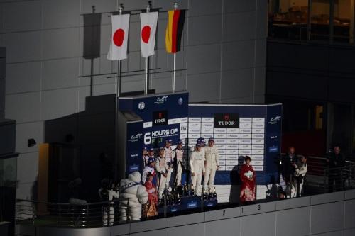 2014WEC富士6時間 表彰台