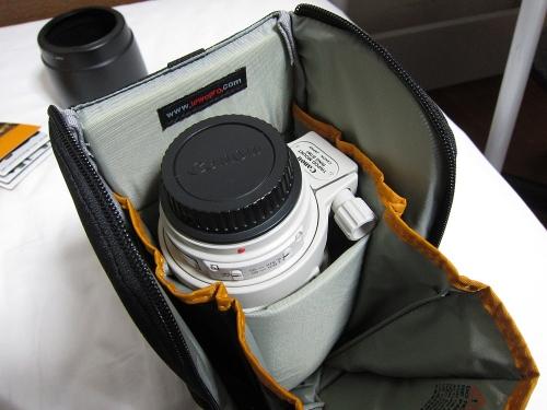 ロープロ S&F レンズエクスチェンジケース200AW 収納例