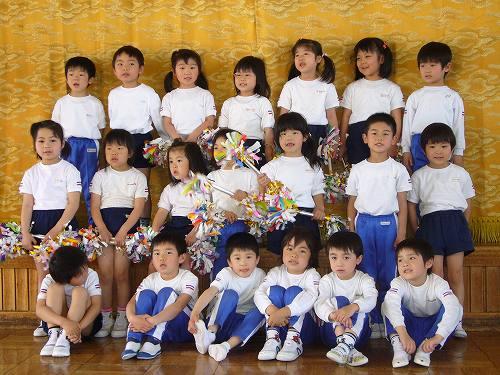 H220506和田保育園獅子舞練習の年長児