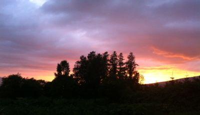 蘭越の夕陽