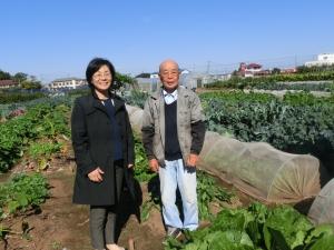 体験農園を見学