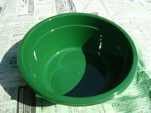 グリーン洗面器色塗り(下塗り)