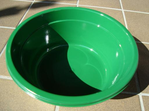 グリーン洗面器仕上げ塗り