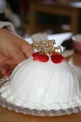 お祝いケーキ♪