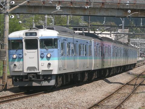 115系(長野色)-鳥橋(鳥沢~猿橋間)