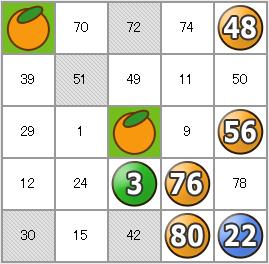 フルーツメールビンゴ