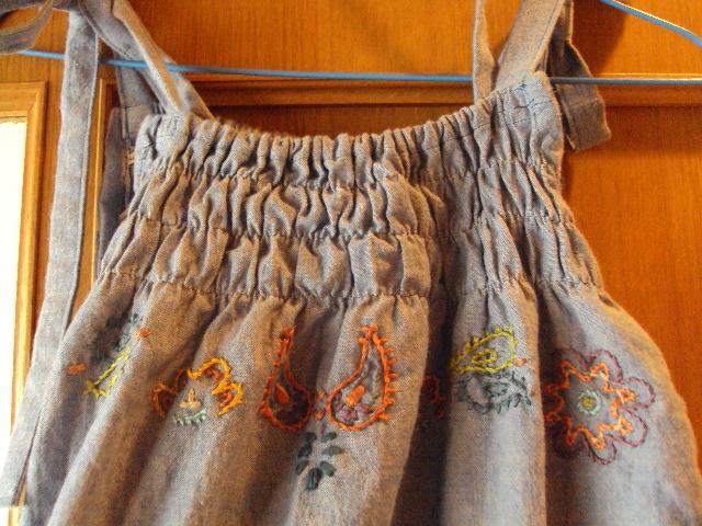 ペイズリー調刺繍 デニム 2