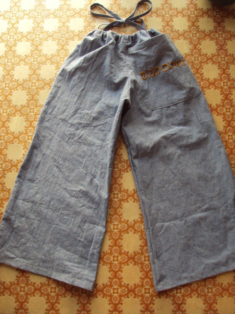 hempcotton denim pants b