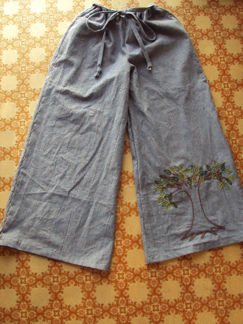 hempcotton denim pants f
