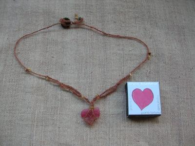 pink seaglass with a heart
