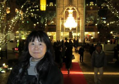恵比寿ガーデンプレイス クリスマスイルミネーションにて