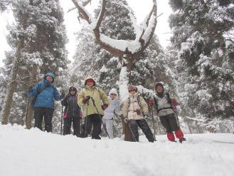2013箱館山スノーシュー体験 (12)