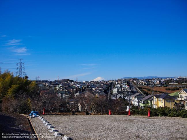2013年元旦の富士山を望む
