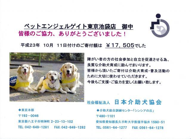 日本介助犬協会(池袋)1
