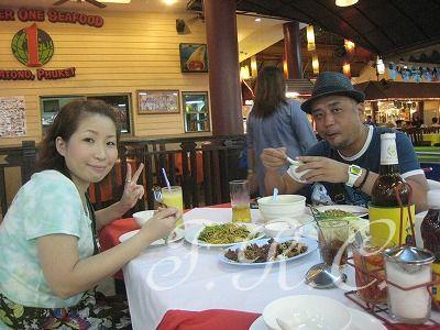 プーケットパトンビーチジャンクセイロン観光ツアーレストラン