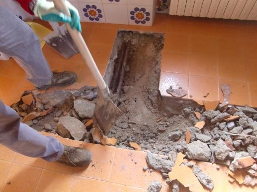 床の工事1