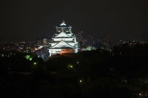 大阪城ライトアップ 001