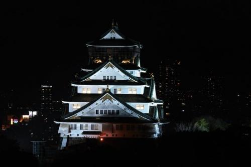 大阪城ライトアップ 002