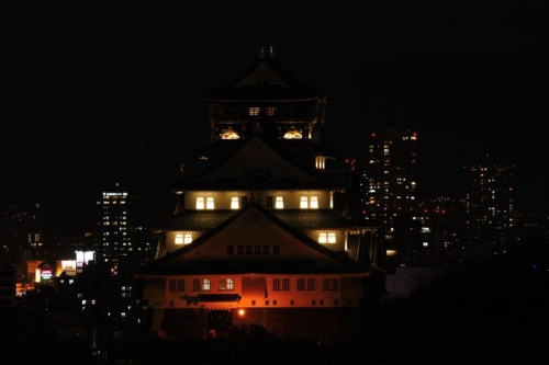 大阪城ライトアップ 005