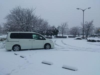 雪が深い!