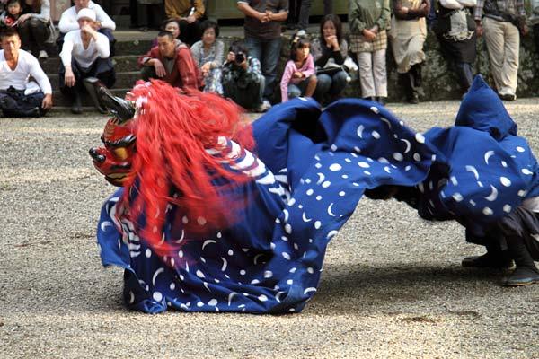 龍穴神社 獅子舞5