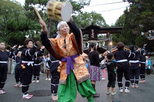 飽波神社 なもで踊り3