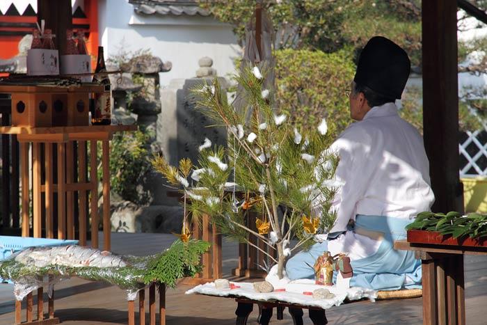 奈良豆比古神社 弓始祭1
