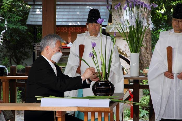 漢国神社 菖蒲祭1