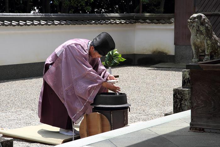 八所御霊神社 湯立3