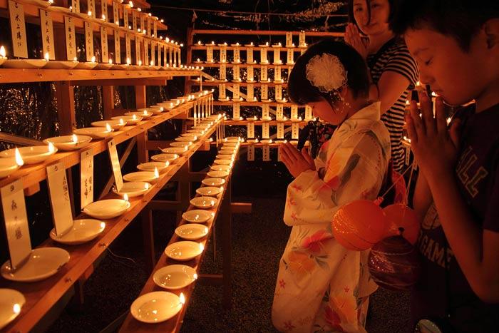 龍田神社 千燈明2