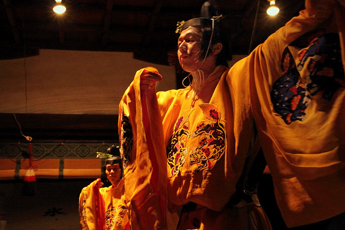 氷室神社 夕座舞楽2