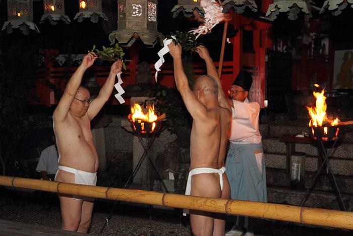奈良豆比古神社 神事相撲1