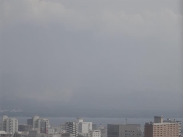 見えない桜島