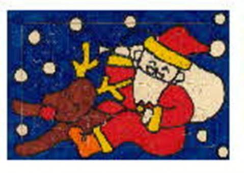 クリスマスジグソーパズル