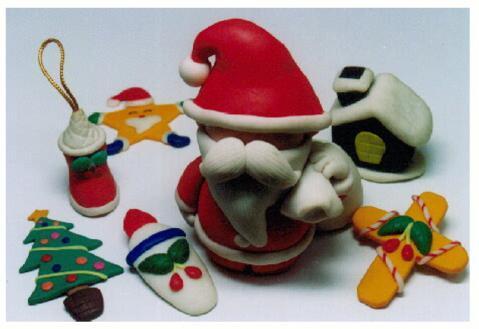 クリスマス粘土工作