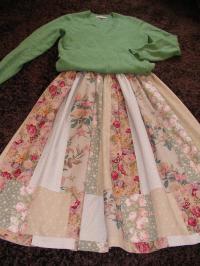 パッチワークのスカート