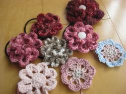 花の編みゴム