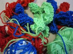 編みかけエコたわし