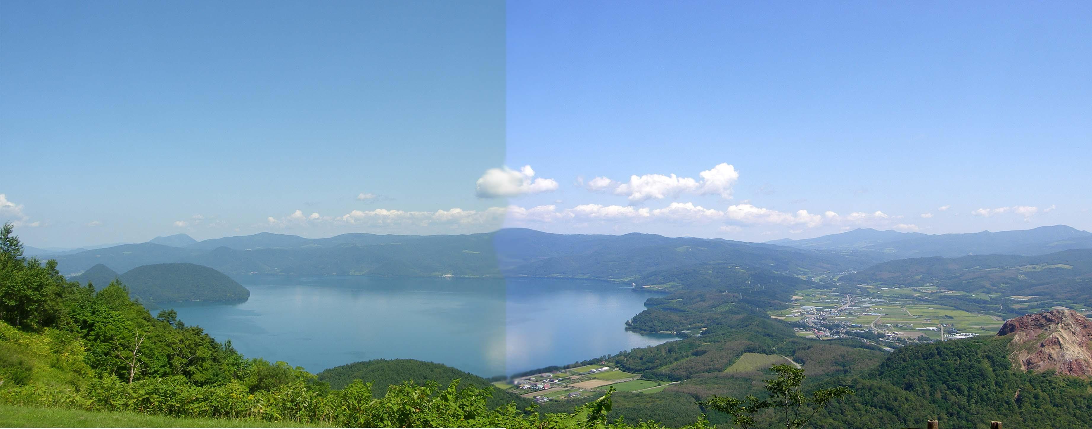 B 洞爺湖 有珠山から