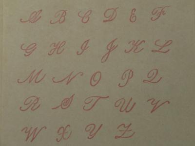 アルファベットはんこカッパー大文字完成②