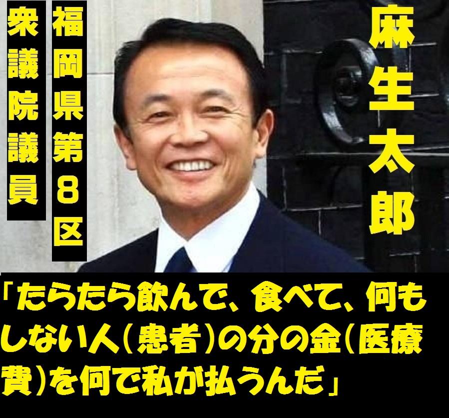 麻生太郎 差別発言