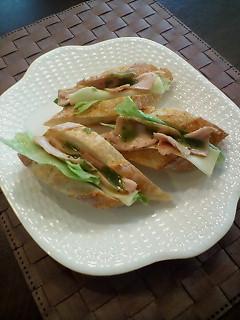 サンドイッチ (ジェノバソースかけ)
