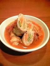 豚肉の野菜まきまき トマトソース煮