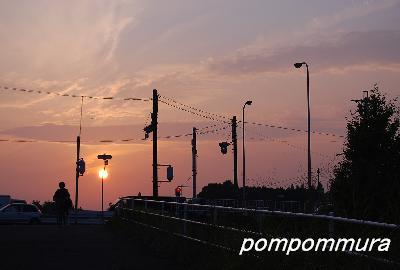 夕焼けの帰り道